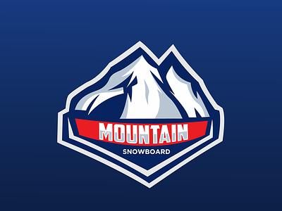 Mountain Snowboard Logo Esport logo branding snowboarding mountain sport logo design logo sport design logo