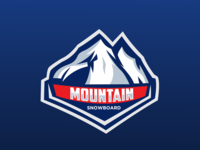 Mountain Snowboard Logo Esport