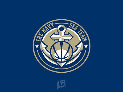 [ Unused ] The Navy Sea Team Logo navy blue anchor basketball sports champion gaming logo branding illustration design logo sport logo esport logo logo design