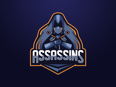 Assassins Logo For Sale assassins illustrator esport mascot champion logo sport gaming logo esport illustration logo mascot logo design logo