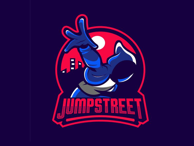 Jump Street Logo For Sale street jumper jumping adventure mascot esport logo mascot illustration gaming design logo esport logo sport logo logo design