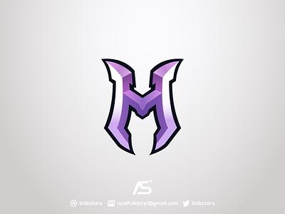 M Lettermark Logo For Sale lettermark logo branding esport illustration gaming design logo esport logo sport logo logo design