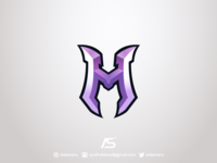 M Lettermark Logo For Sale
