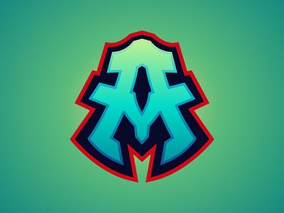 AM Lettermark Logo For Sale initial gaminglogo lettermark champion illustration logo branding esport gaming logo esport design logo sport logo design logo