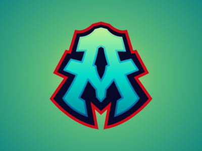 AM Lettermark Logo For Sale