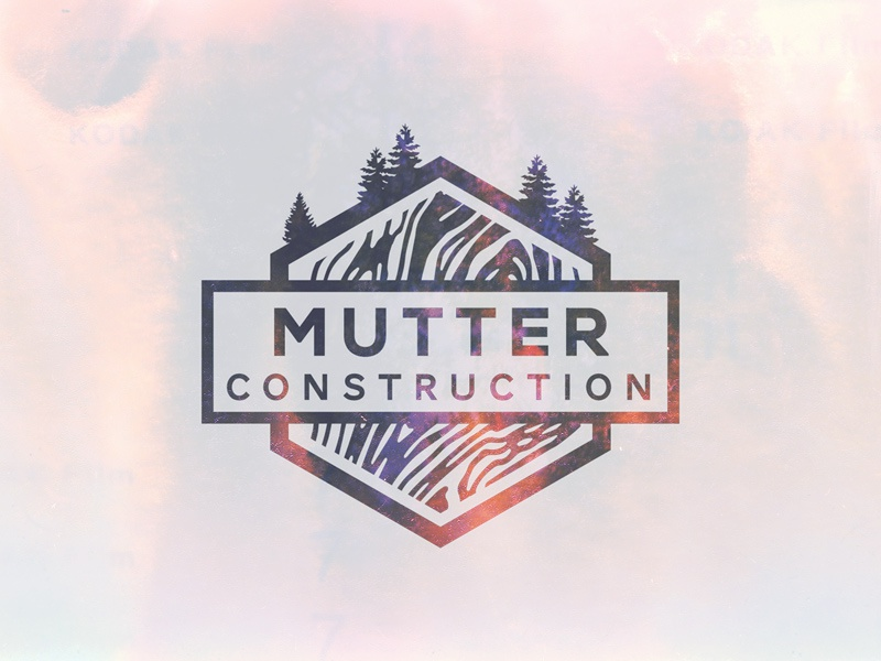Mutter Construction debut invite drafted thank-you construction logo wood texture light-leak novecento geometric outdoor