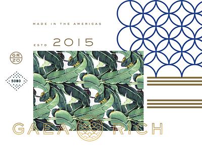 Brand II textile brand logo martinique art deco gold leaf