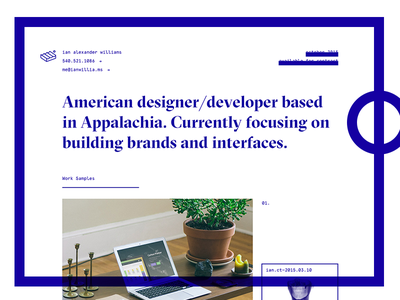 2015 Portfolio Update landing marketing personal freelance ux ui brand colophon grilli type portfolio