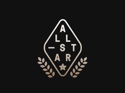 all_star.png lockup star leaves olive branch metalic logo