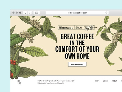 ~~~clog the feed~~~~ ecommerce subscription illustration plant coffee website