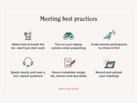 Best practices for meetings inclusion illustration design collaborative remote distributed work meetings teamwork distributed collaboration remote work