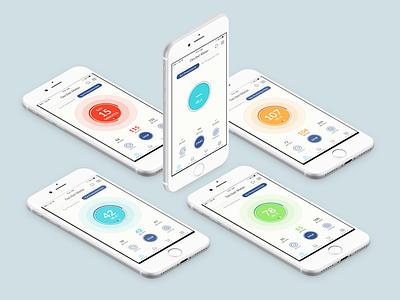 Sound Meter Concept, iOS Design design ixd mobile ui