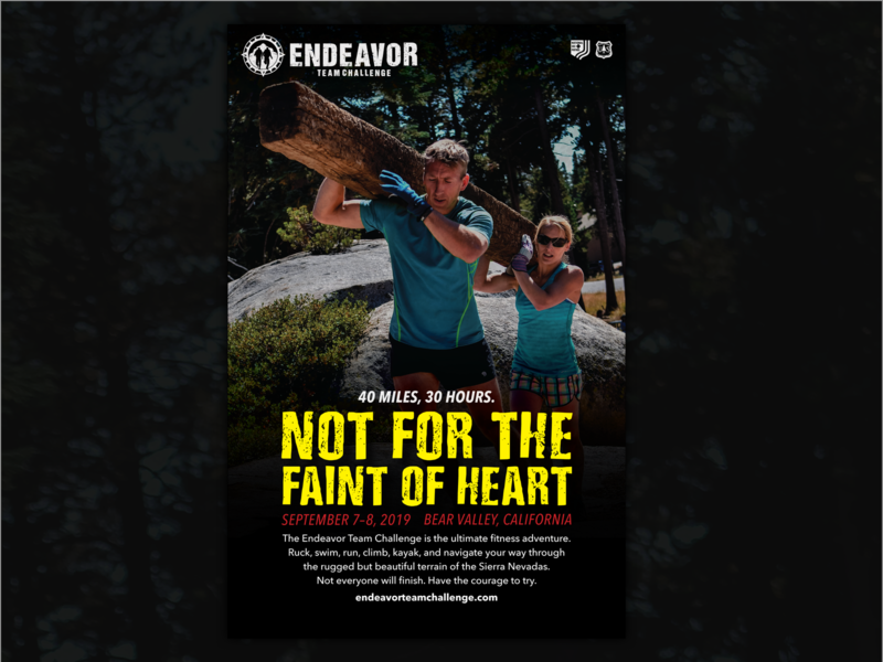Endeavor Team Challenge Poster, 2019 race adventure endurance rugged outdoors poster