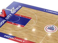 London City Royals Branding Logo Basketball Court