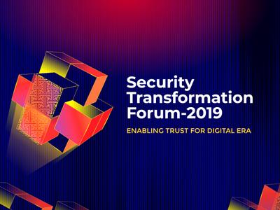 Security Transformation Forum 2019 security logo cgdmurun digital bold color puzzles secret data transformation mongolia forum security system security
