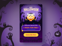 Test master Halloween theme page