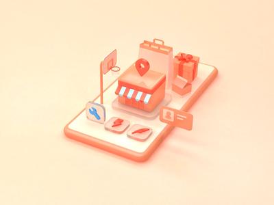 LBS App (3D)
