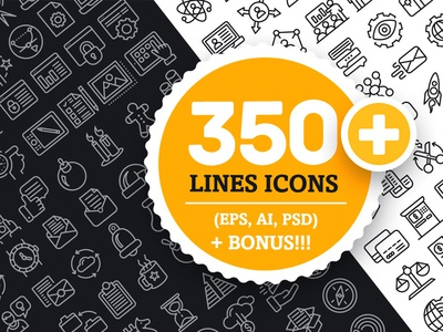 Collection Lines Icons (350+)