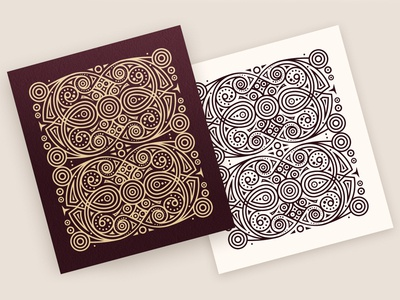 Abstract Lines Pattern (4 colors)