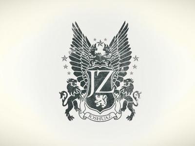 Joshuaz Logo logo corporate identity heraldry grunge icon branding crest logos