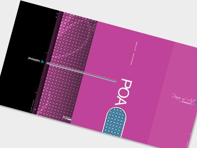 Poa Folder pink folder print design
