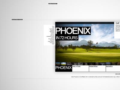 Phoenix in 72 Hours web design website clean minimalistic minimalism design