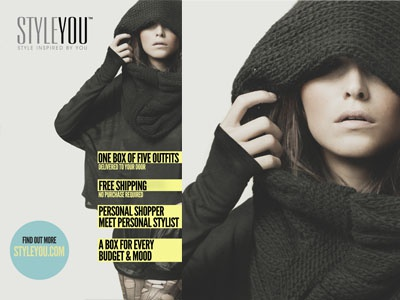Styleyou Poster - concept poster fashion online service design shopping model minimalistic minimalism photography gray grey blue yellow clean