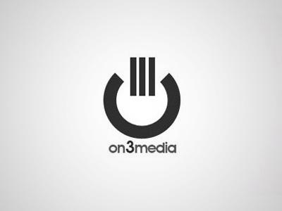 on3media logo logo corporate identity icon minimalistic minimalism design