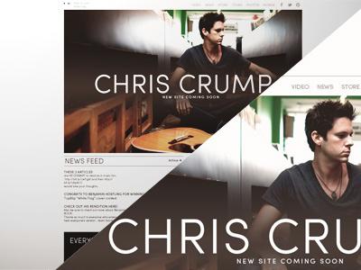 Chris Crump Website Concept web design website clean minimalistic minimalism design