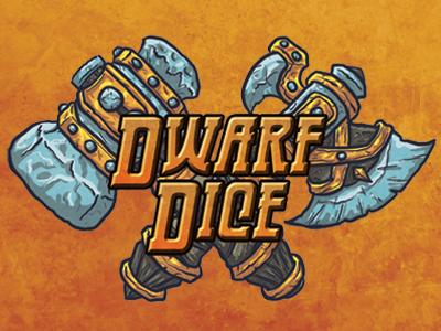 Dwarf Dice Logo tabletop dice dwarf logo gaming game fantasy
