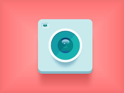 Flat Cam almost ui camera flat cam colors pink green blue icon lens design konrad group konrad group