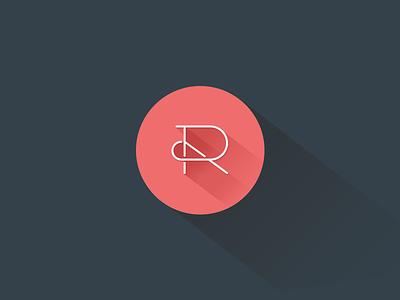 Reflect Architecture Logo konrad group flat r a architecture arch circle pink dark line thin architect