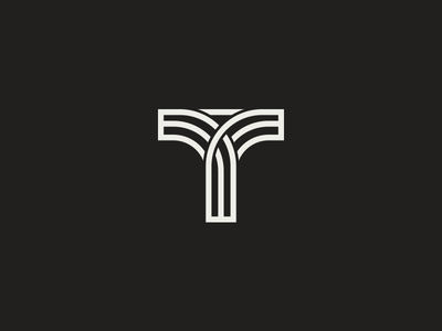 Tau  logo mark lines font type lettering letter t