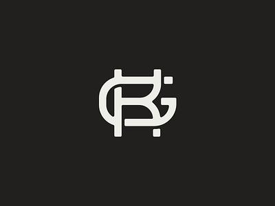 Kg Monogram initials text type monogram letter g k