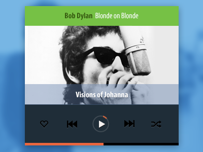 Free Psd Mobile Music Player music play heart time player free psd rebound bob dylan flat mobile iphone android konrad group