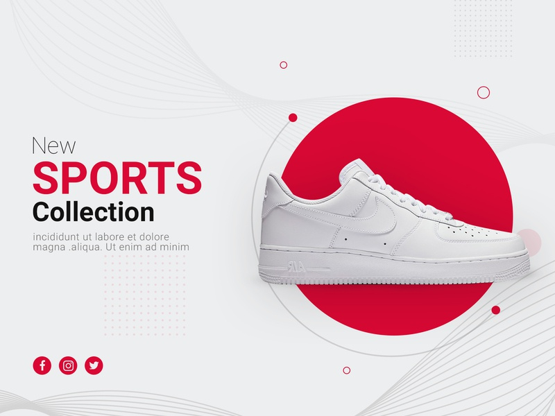 Shoes Banner uiuxdesign uiux ux ui website builder website webdesign service garphicdesign business agency design brandideas branding brandidentity brand