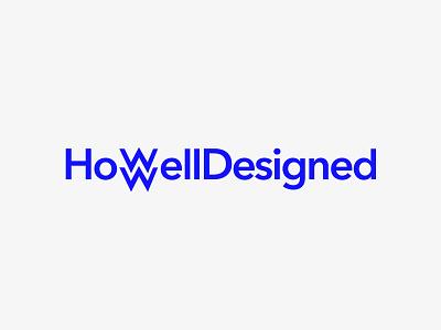Howell Designed logo blue avenir logotype