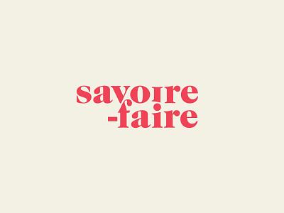 Savoire Faire - Alt brand bold french serif logotype logo