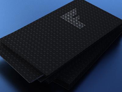 Framework Business Cards stationery logo black  white minimal