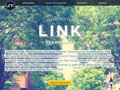 Link Homepage web design vintage apartment large image