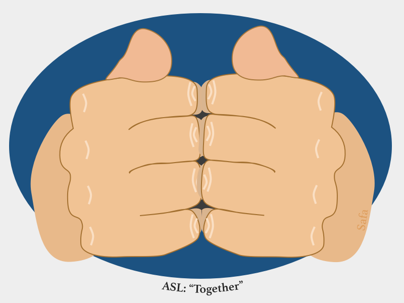 """""""Together"""" in American Sign Language by Safa Sofia Ghnaim ..."""