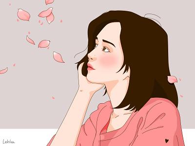Valentin's day illustration illustrator photoshop hope dream flowers valentinsday