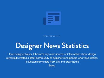 Designer News Statistics dn designer news statistics news layervault