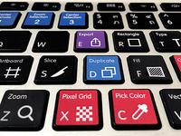 Keyboard stickers w/ Sketch shortcuts