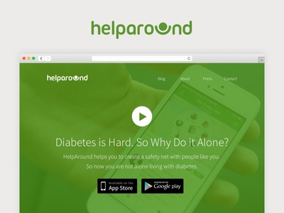 HelpAround (2014) panic button social good diabetes