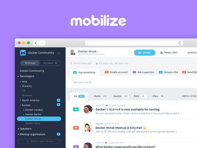 Mobilize (2015-2016) groups saas community