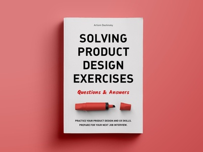 "Book ""Solving Product Design Exercises"" whiteboard career interview book"