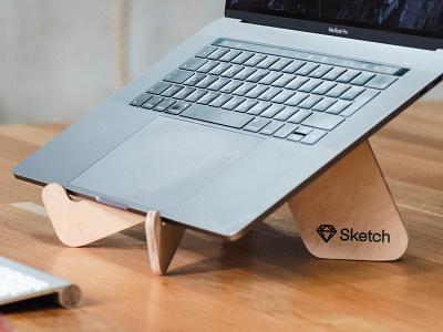 OpenStanding — Custom-Braded Laptop Stand laser cut plywood ergonomics ergonomy branded merchandise swag