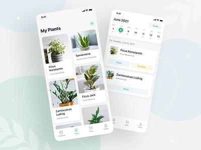 Botanist — plant care app (redesign) green plant care design mobile design ui plant uiuxdesign plants app clean ui userinterface app