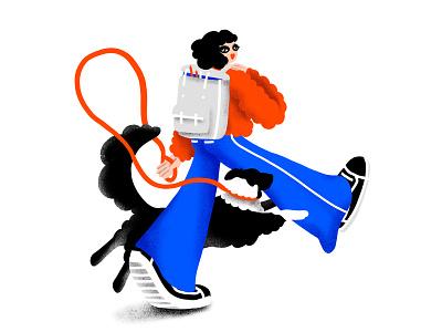 The beginning girl illustration procreate charater design character dog illustration artwork illustration